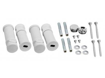 Novaservis - montážní sada k rovnému radiatoru bílá-chrom (MS/TELESOR,1)