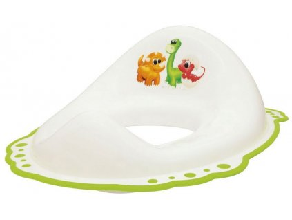 AQUALINE - Dětské WC sedátko Dinosauři, bílá (7776)