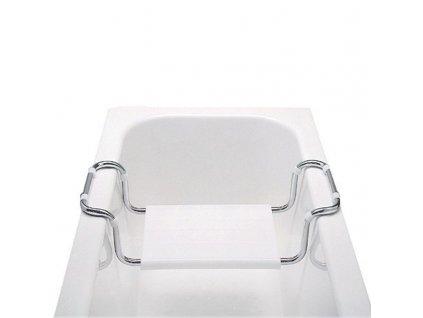 MEREO - Sedátko vanové, stavitelné, nosnost 90 kg, chrom/polypropylen VA365