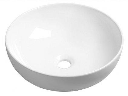 SAPHO - RONDANE keramické umyvadlo průměr 40x14 cm, na desku (AR435)