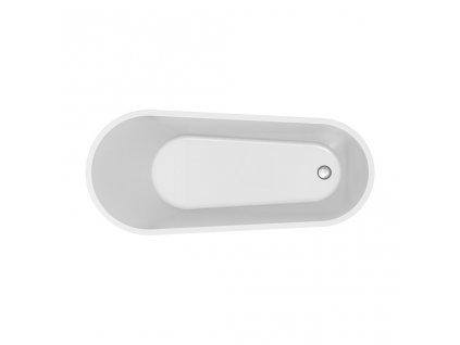 CERSANIT - Volně stojící akrylátová vana OVAL ZEN 167X72 (S301-302)