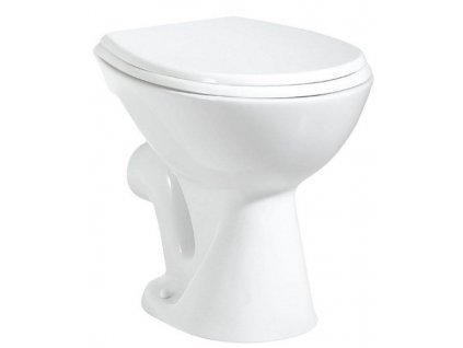 AQUALINE - WC mísa stojící, 36x47cm, zadní odpad, bílá TP330