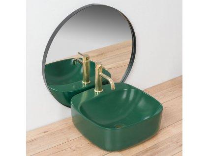 REA - Umyvadlo na desku Luiza 42 zelené REA-U4561