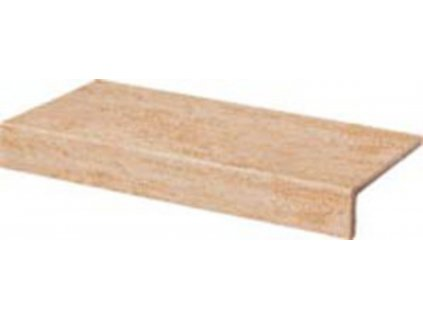 Rako Travertin balkonová tvarovka okrová 30x15 (DCFJH034)