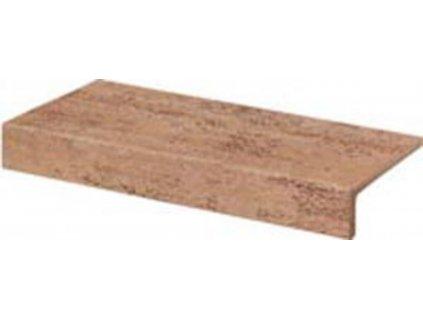 Rako Travertin balkonová tvarovka hnědá 30x15 (DCFJH037)