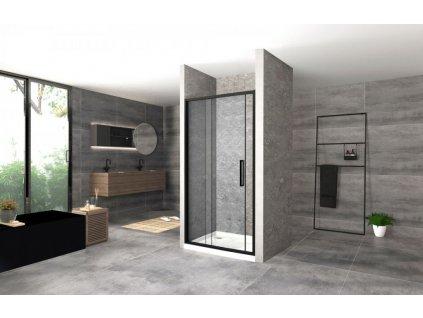 REA - Posuvné sprchové dveře Rapid Slide 100 černá REA-K6400