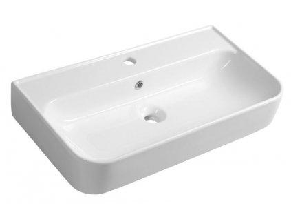 ISVEA - SISTEMA U keramické umyvadlo 70x38 cm, bílá 10PL53070