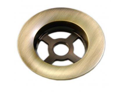 SILFRA - Náhradní mosazná odtoková mřížka k vanovým soupravám, bronz (RI00792)