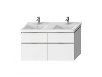 JIKA Cubito pure - skříňka pod dvojumyvadlo 130 cm H814420, (provedení 401 - 2 zásuvky, provedení 402 - 4 zásuvky) (H40J427)