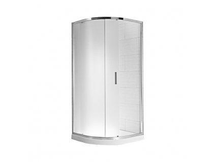JIKA Cubito pure - sprchový kout 900 mm, čtvrtkruh levý/pravý, stříbrný lesklý profil, rádius 550 mm, 6 mm sklo s úpravou JIKA perla GLASS, madla chrom (H250242)
