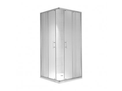 JIKA Cubito pure - sprchový kout 900 mm, čtverec, stříbrný lesklý profil, 6 mm transparentní sklo nebo s dekorem arctic a úpravou JIKA perla GLASS (H251242)
