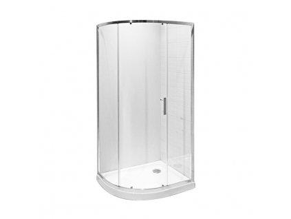 JIKA Tigo - asymetrický sprchový kout, stříbrný lesklý profil, 6 mm sklo s úpravou JIKA perla GLASS na vnitřní straně, levopravý (H251211)