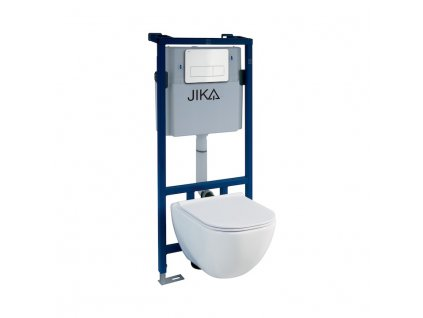 JIKA Modul - WC SYSTEM pro závěsné klozety se samonosným ocelovým rámem (H895652), creme bílý (H8956520000001)