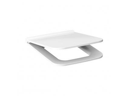 JIKA Cubito pure - duroplastové sedátko s poklopem, rychloupínací, nerezové úchyty (H893421), bílé (H8934213000631)