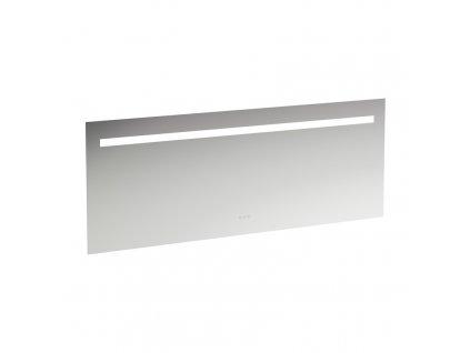 LAUFEN LEELO - zrcadlo, 1800 mm v hliníkovém rámu, s vodorovným LED osvětlením a prostorovým osvětlením, 3 dotykové senzory (Zap-Vyp/Stmívání/změna barvy světla 2700 - 6000 K), zrcadlo, lEELO (H4477039501441)