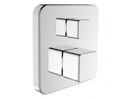 LAUFEN SENSE - vrchní termostatická sada pro podomítkové vanové/sprchové baterie, s 2-cestným přepínačem, chrom, se zavzdušňovacím ventilem (3233960040101)