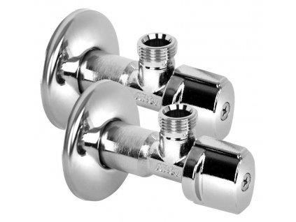 ARCO rohový ventil A-80 1/2'x3/8', anticalc, chrom, pár A80MAC