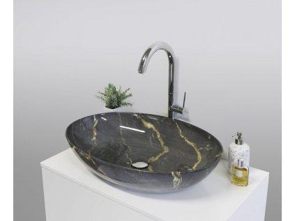Aquatek - RYTHMUS keramické umyvadlo 66x43x14,5 cm RYTHMUS