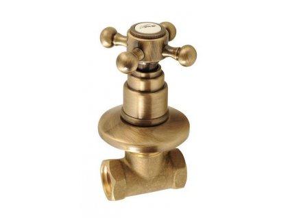 Reitano Rubinetteria - ANTEA podomítkový ventil, teplá, bronz 3056H