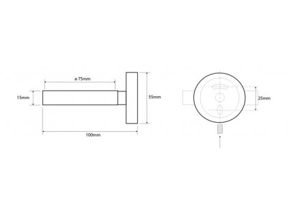 SAPHO - X-ROUND držák fénu, chrom XR001