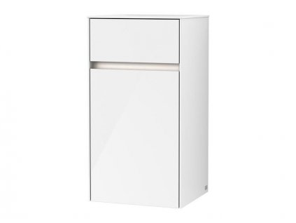Villeroy & Boch Collaro boční skříňka s osvětlením 40,4x74,8x34,9 cm, panty vpravo, Glossy White (C032L1DH)