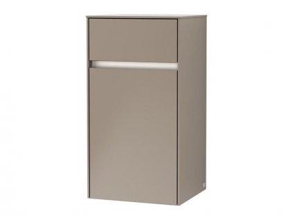 Villeroy & Boch Collaro boční skříňka s osvětlením 40,4x74,8x34,9 cm, panty vpravo, Truffle Grey (C032L1VG)
