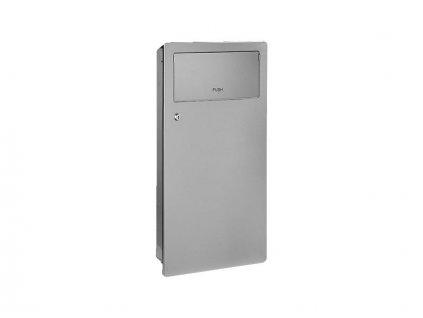 Sanela SLZN 63Z - Nerezový odpadkový koš do zdi, 11 l (SLZN 63Z)