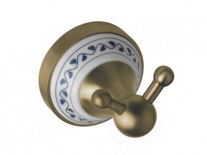 Bemeta Kera věšáček dvojitý, mosaz/keramika (144706037)