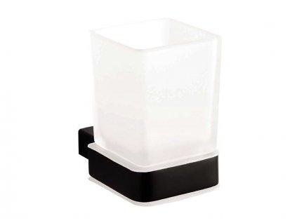 Bemeta Nero držák kartáčků sklo, černá (135011010)