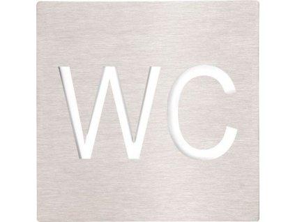 Bemeta WC cedulka 120x120 mm, broušená nerez (XP037)