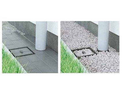 HL individuální nástavec pro výplň kamenivem nebo dlažbou, materiál PP (HL601I)