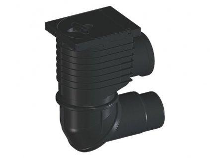 HL lapač střešních splavenin DN110/125, horizontální připojení DN110 (HL600NHO)