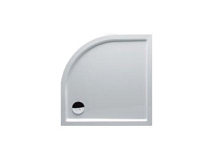 Riho ZÜRICH 284 sprchová vanička čtvrtkruh R55, 100x100x4,5cm, bílá (DA92)
