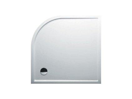 Riho ZÜRICH 288 sprchová vanička čtvrtkruh R55, 120X120x4,5cm, bílá (DA96)