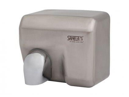 Sanela SLO 02E - Automatický bezdotykový osoušeč rukou s nerezovým matným krytem (79024)