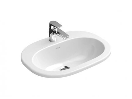 Villeroy & Boch O.NOVO zápustné umyvadlo, 560x405mm, bez přepadu, bílá CeramicPlus (416157R1)