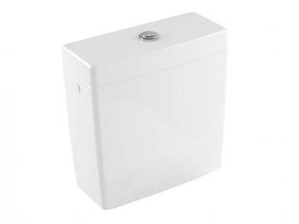 Villeroy & Boch SUBWAY 2.0 splachovací nádržka přívod vody ze strany nebo zezadu, bílá CeramicPlus (570611R1)