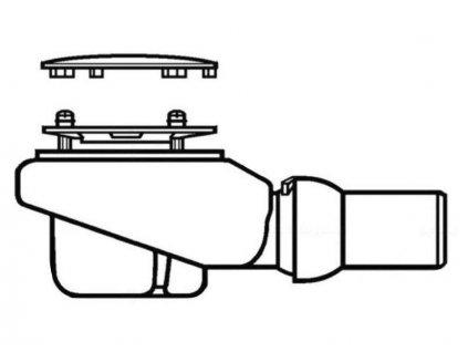 Villeroy & Boch SUBWAY INFINITY výpust Tempoplex Plus Compact d90mm, White (92260068)