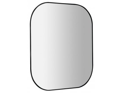 SAPHO - SHARON LED podsvícené zrcadlo 80x70cm, černá mat (E28903CI)
