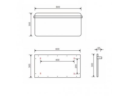 SAPHO - ELMIS elektrický sušák ručníků 600x300mm, 90W, hliník, bílá mat (EB620)
