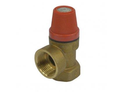 """MEREO - Pojišťovací ventil pro bojler s pevně nastaveným tlakem 10 bar, 1"""" PR2416E"""