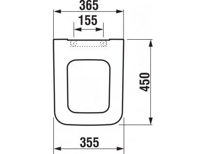 ALCAPLAST Renovmodul - předstěnový instalační systém s chromovým tlačítkem M1721 + WC JIKA PURE + SEDÁTKO DURAPLAST (AM115/1000 M1721 PU1)