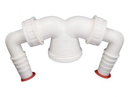 """HL Dvojitá přípojka 6/4""""x3/4"""" pro pračku nebo myčku nádobí (HL6)"""