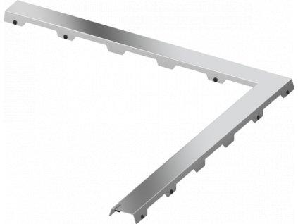 """TECEdrainline, designová mřížka ocelová leštěná, rohové provedení 90°, design """"steel II"""" L 900x900mm (610982)"""