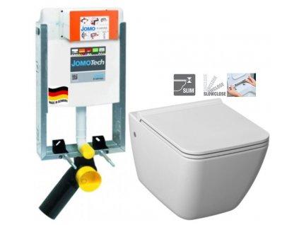 JOMO modul pro zazdění bez sedátka + WC JIKA PURE + SEDÁTKO SLOWCLOSE 164-14600479-00 PU2