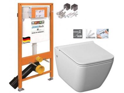 JOMOTech modul pro závěsné WC bez sedátka + WC JIKA PURE + SEDÁTKO SLOWCLOSE 174-91100700-00 PU2