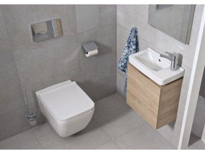 ALCAPLAST Renovmodul - předstěnový instalační systém bez tlačítka + WC JIKA PURE + SEDÁTKO SLOWCLOSE AM115/1000 X PU2