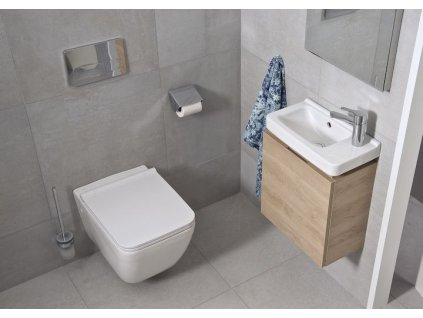 VIEGA Presvista modul DRY pro WC včetně tlačítka Life5 CHROM + WC JIKA PURE + SEDÁTKO SLOWCLOSE V771973 LIFE5CR PU2