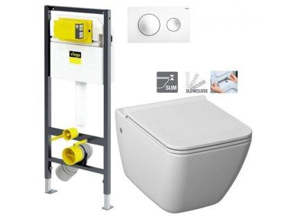 VIEGA Presvista modul DRY pro WC včetně tlačítka Style 20 bílé + WC JIKA PURE + SEDÁTKO SLOWCLOSE V771973 STYLE20BI PU2