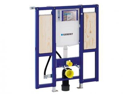Geberit Duofix montážní prvek pro závěsné WC, 112 cm, se splachovací nádržkou pod omítku Sigma 12 cm, bezbariérový, pro podpěry (111.375.00.5)